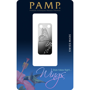 1/5 oz Proof Silver Pendant - PAMP Suisse Ingot (Butterfly)