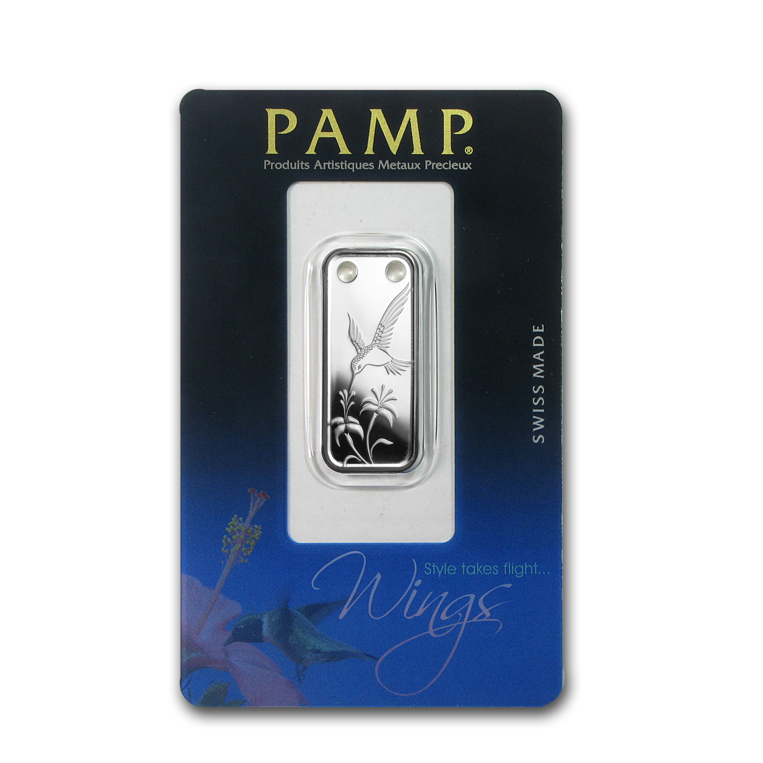 Hummingbird - 1/5 oz Proof Silver Pamp Ingot Pendant