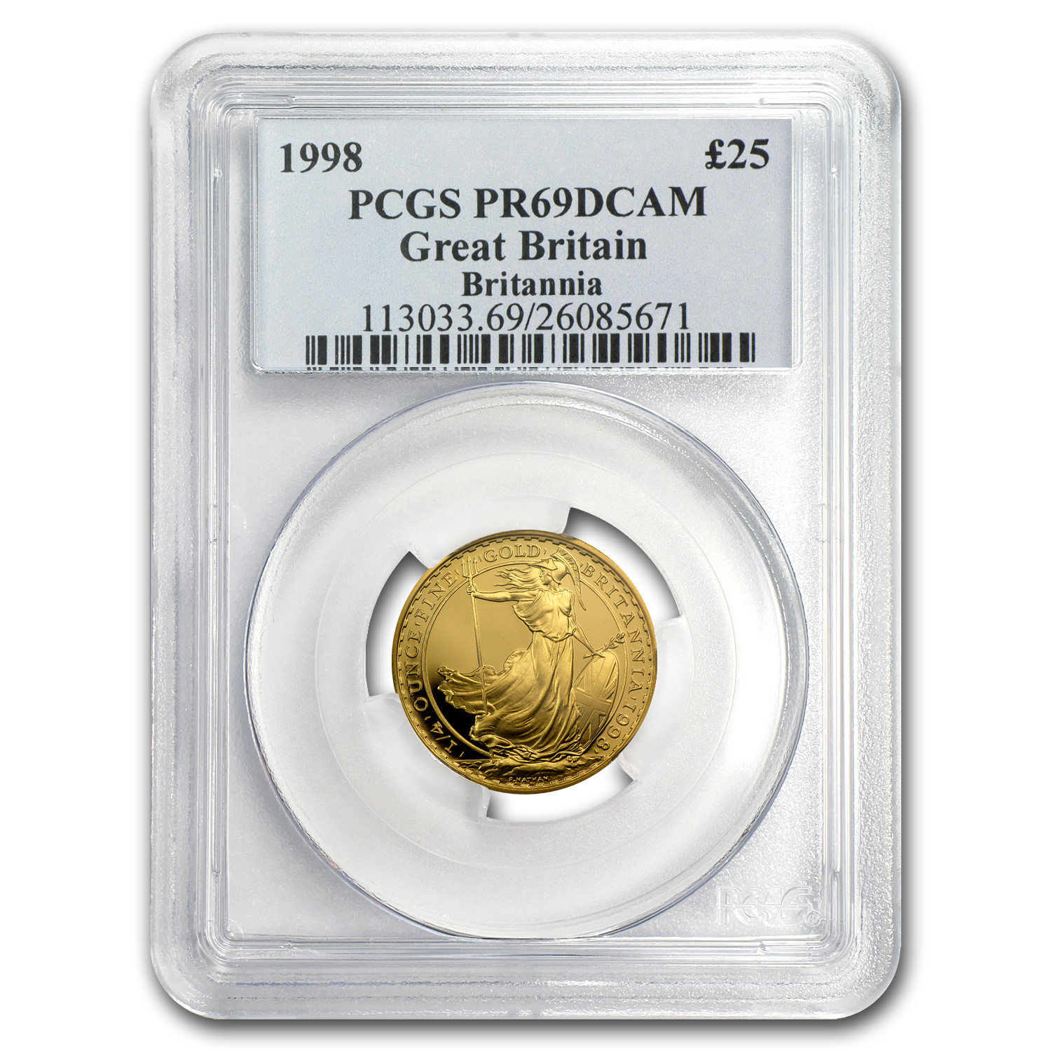 1998 Great Britain 1/4 oz Proof Gold Britannia PR-69 PCGS