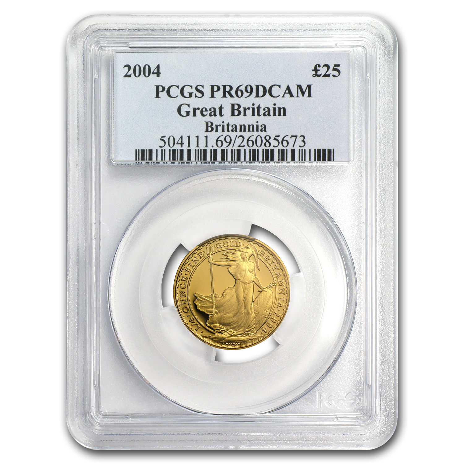 2004 1/4 oz Proof Gold Britannia PR-69 DCAM PCGS