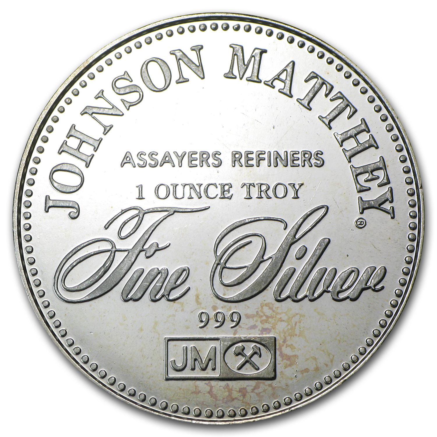 1 oz Silver Rounds - Johnson Matthey (Freedom of Speech)