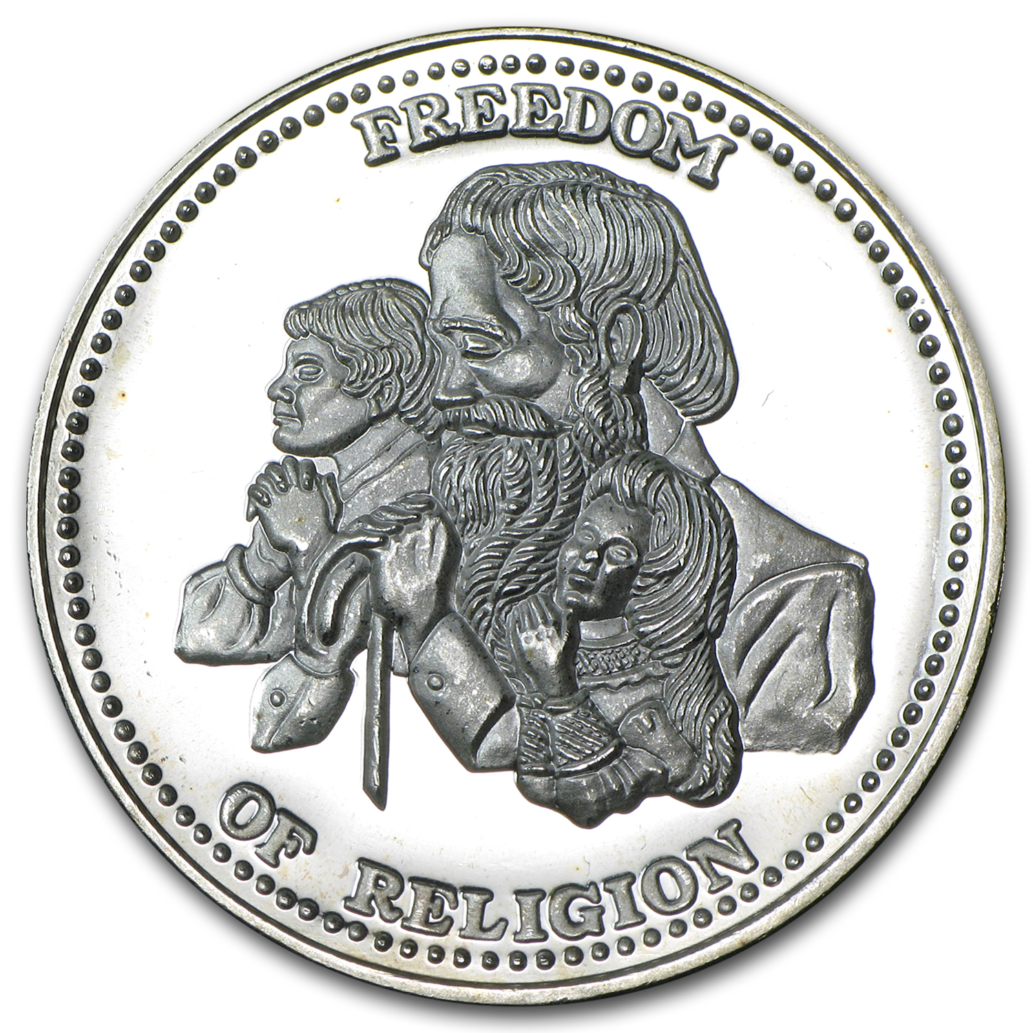 1 oz Silver Rounds - Johnson Matthey (Freedom of Religion)