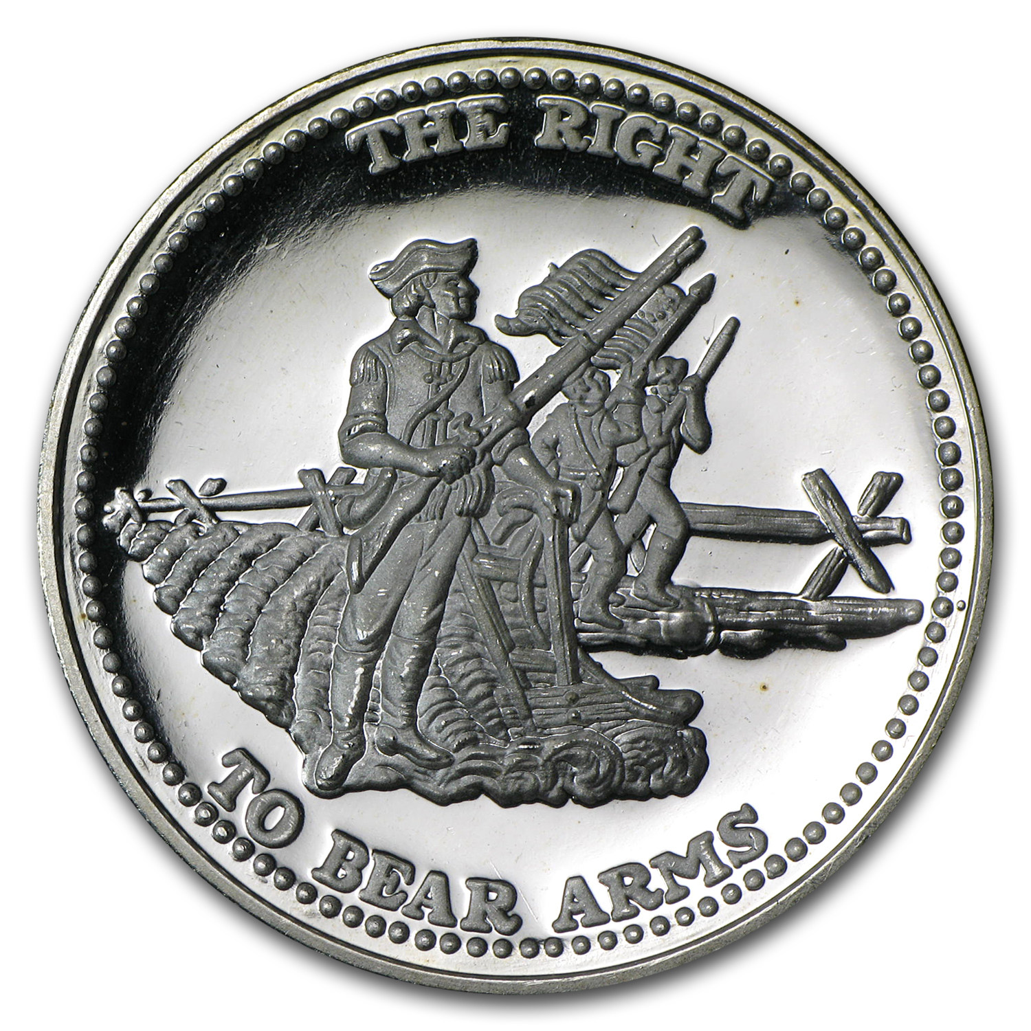 1 oz Silver Round - Johnson Matthey (Right to Bear Arms)