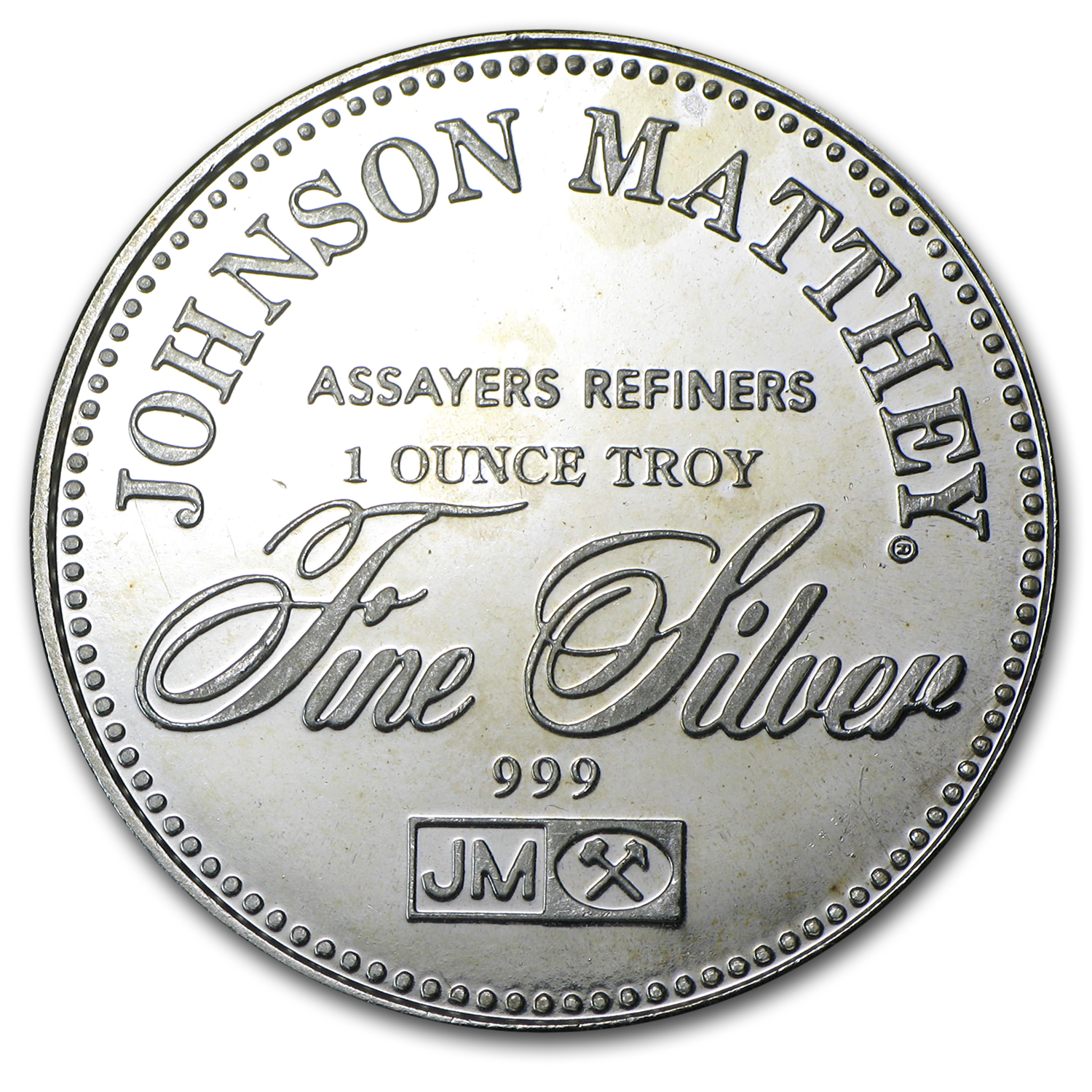 1 oz Silver Rounds - Johnson Matthey (Right to Bear Arms)