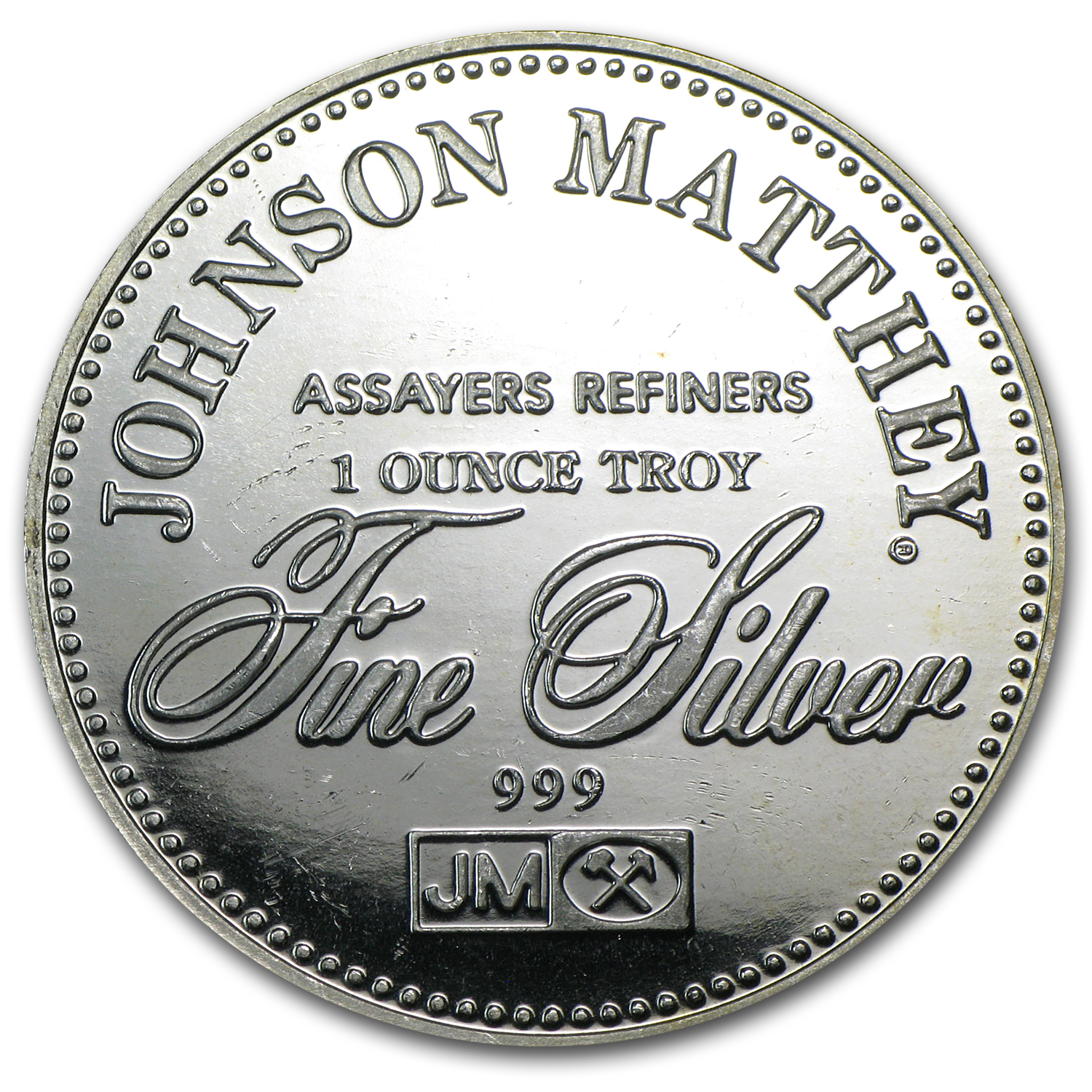 1 oz Silver Round - Johnson Matthey (Right to Privacy)