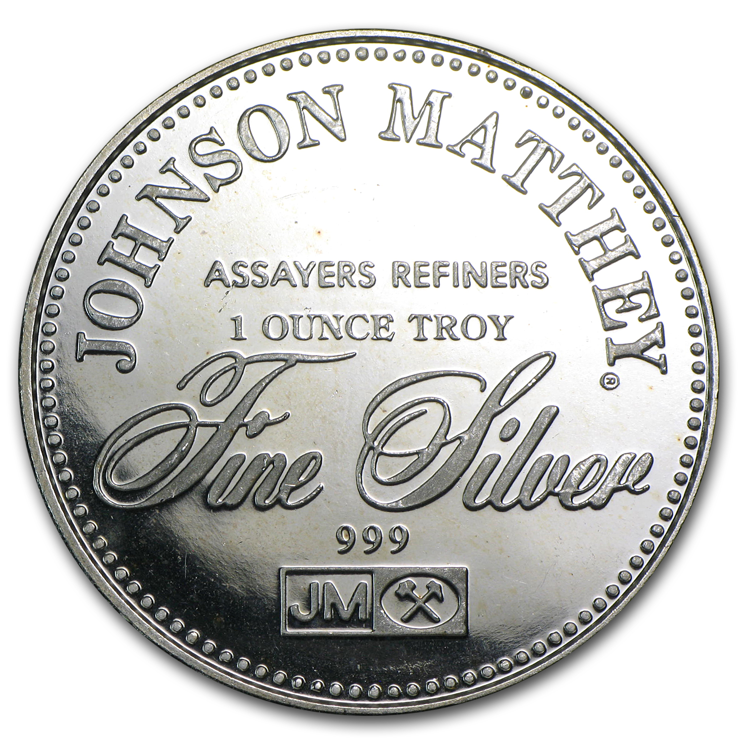 1 oz Silver Rounds - Johnson Matthey (Right to Counsel)