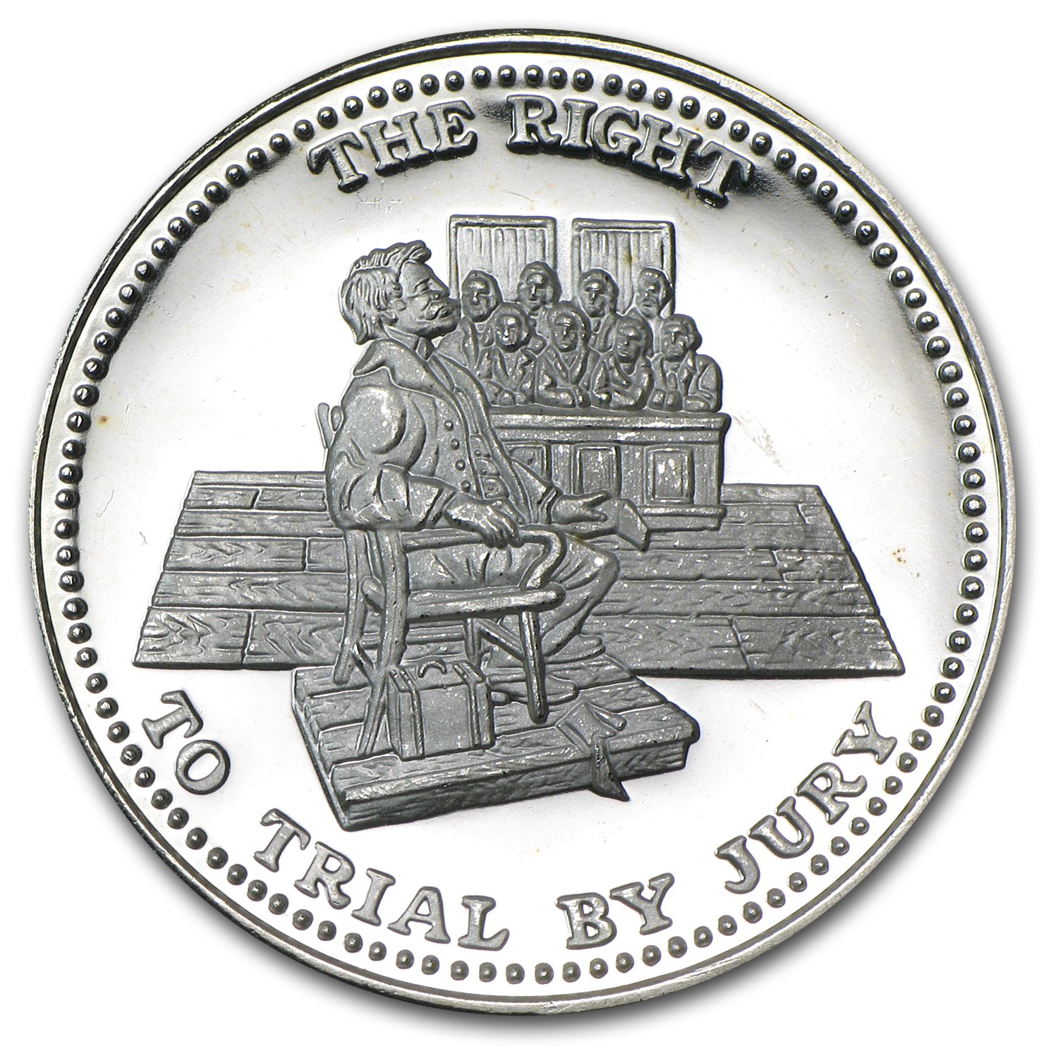 1 oz Silver Round - Johnson Matthey (Right to Trial by Jury)