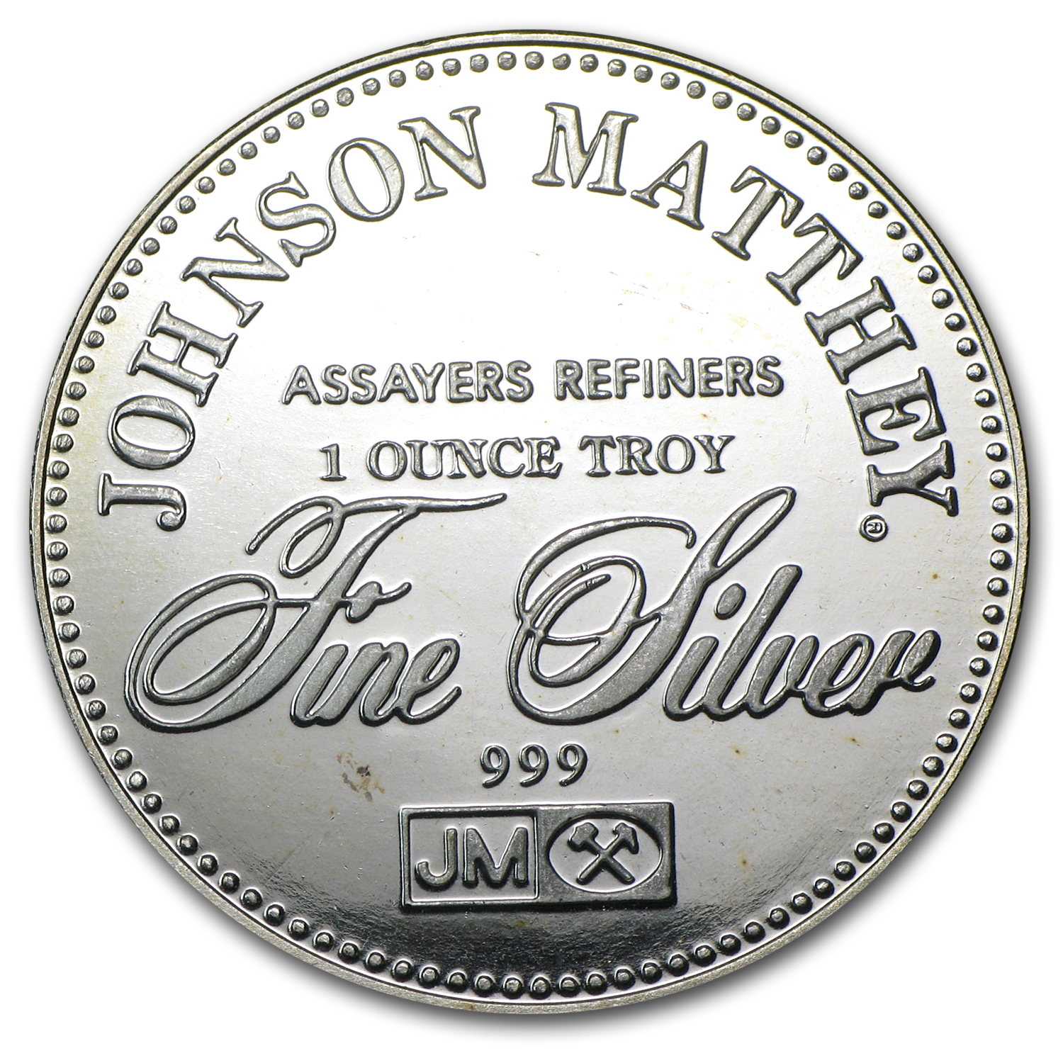 1 oz Silver Rounds - Johnson Matthey (Right to Trial by Jury)