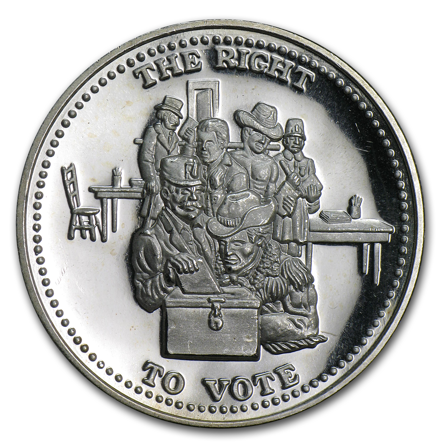 1 oz Silver Rounds - Johnson Matthey (Right to Vote)