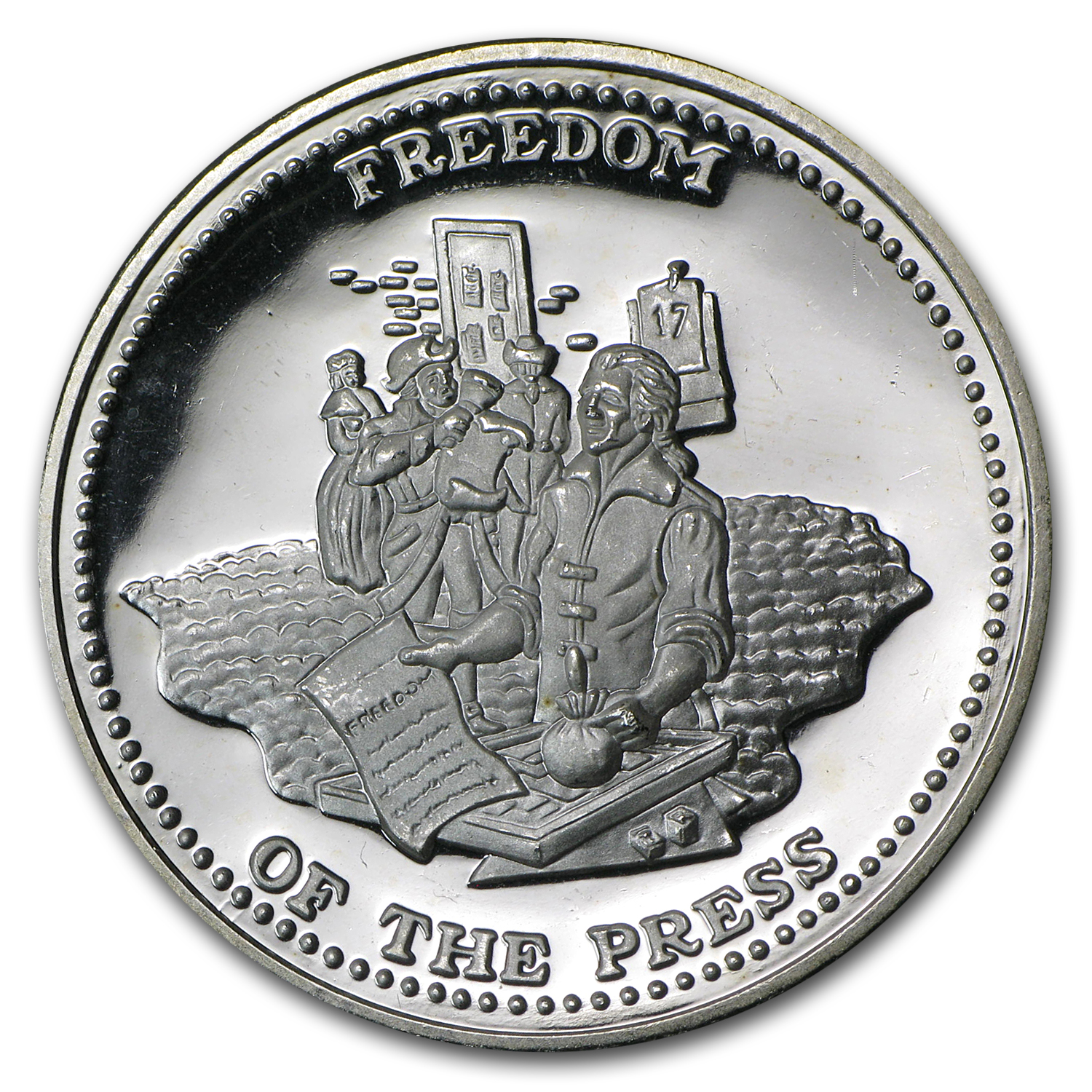 1 oz Silver Round - Johnson Matthey (Freedom of the Press)
