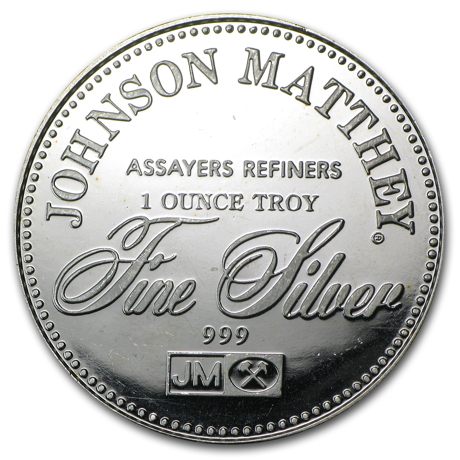 1 oz Silver Rounds - Johnson Matthey (Freedom of the Press)