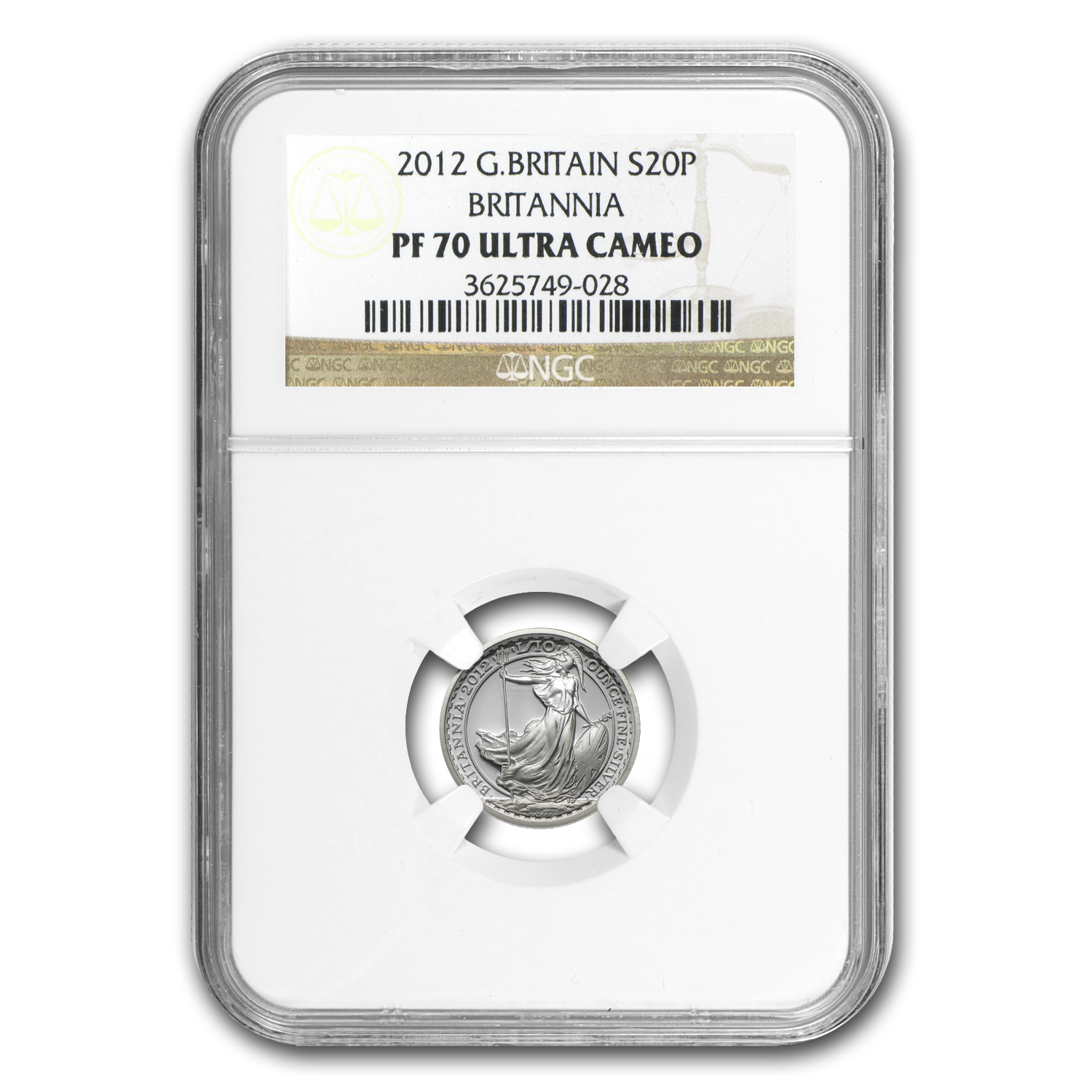 2012 Great Britain 1/10 oz Silver Britannia PF-70 NGC