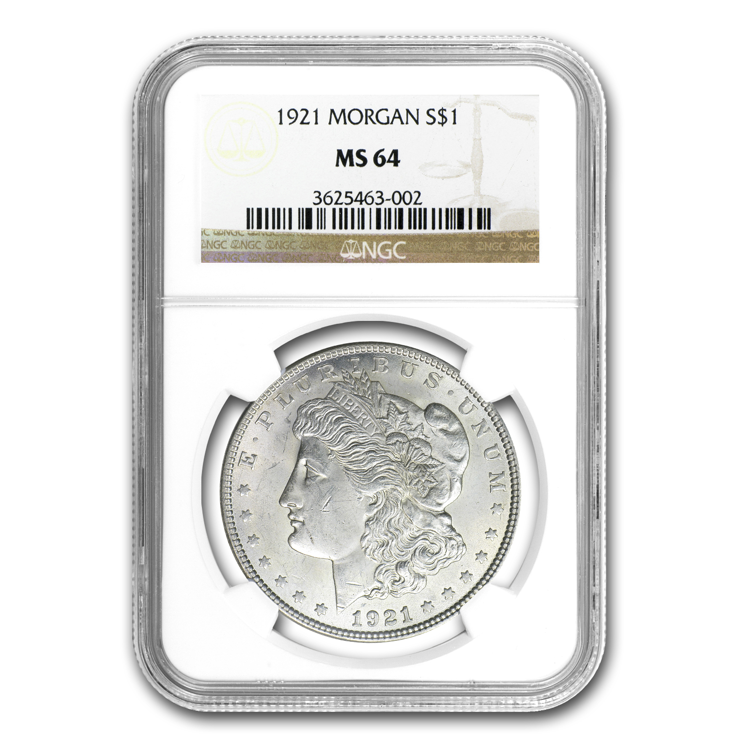 1921 MS-64 NGC (VAM-40A Denticle Impressions, Hit List-40)