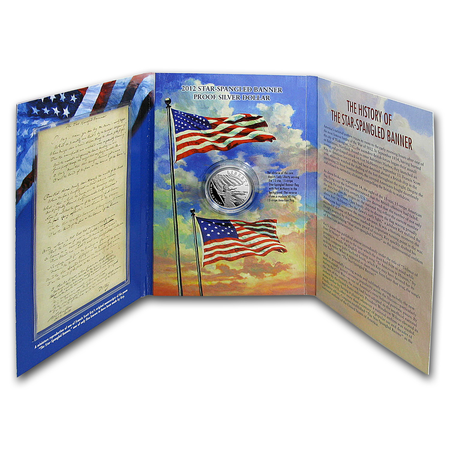 2012 $1 Silver Star Spangled Banner Bicentennial Proof (Book)