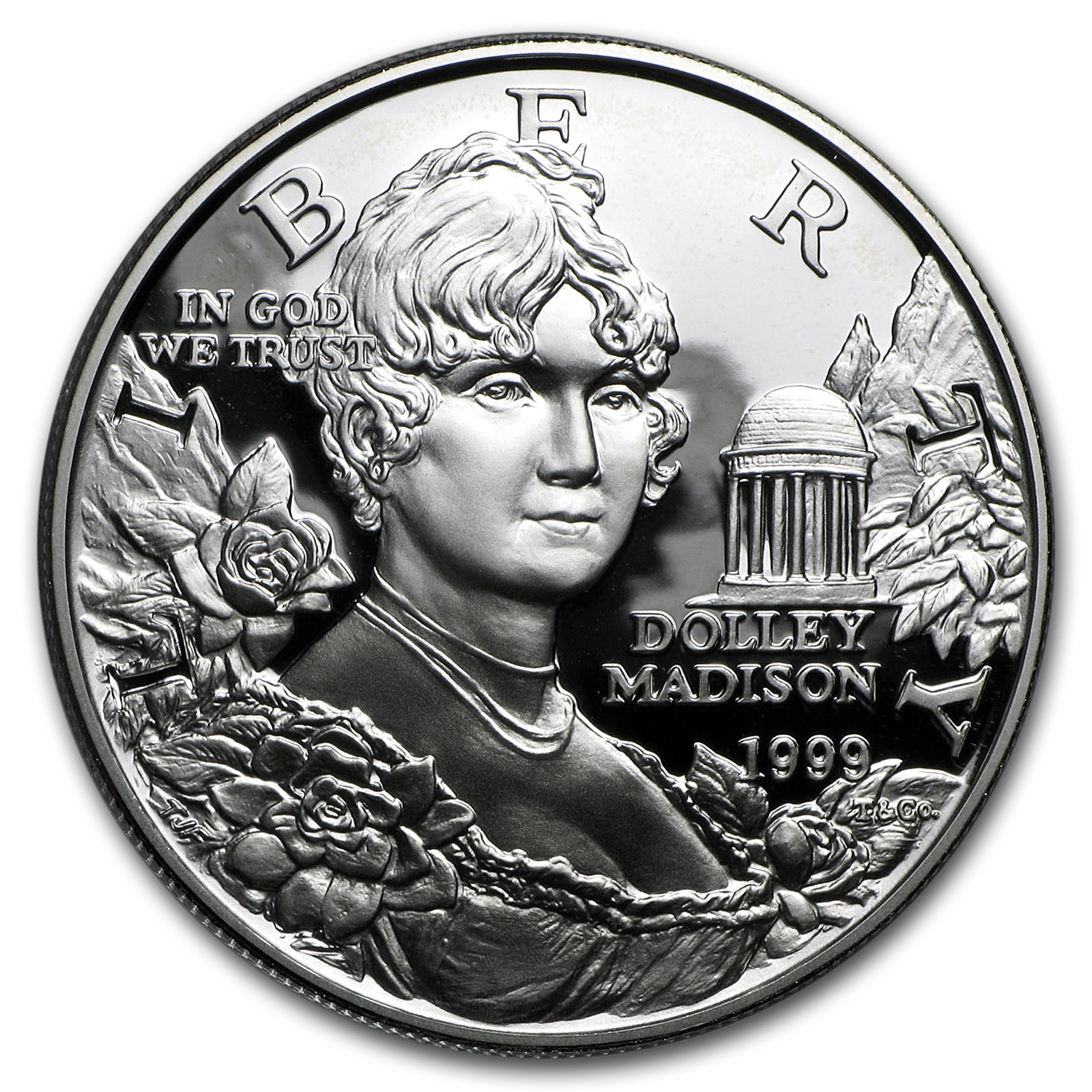 1999-P Dolley Madison $1 Silver Commem Proof (w/Box & COA)