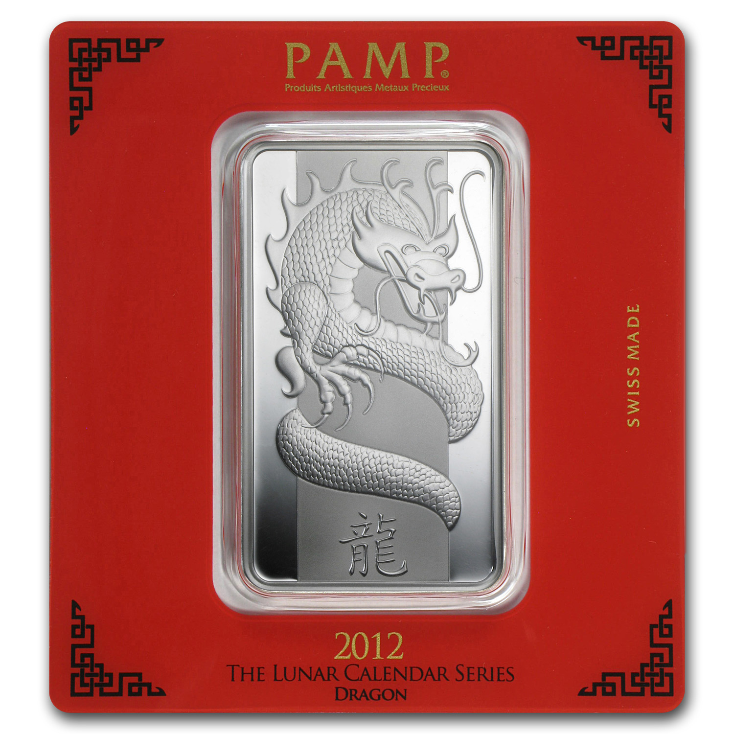 100 gram Silver Bar - PAMP Suisse (Year of the Dragon)