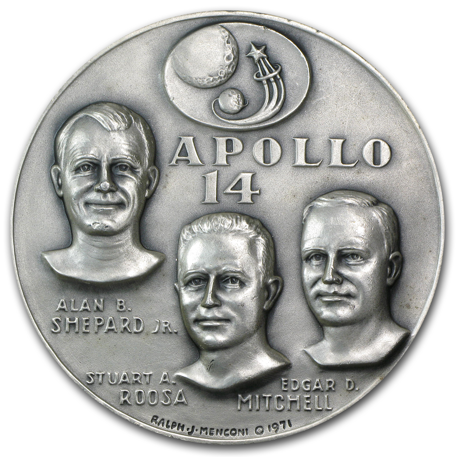 4.69 oz Silver Round - APOLLO 14