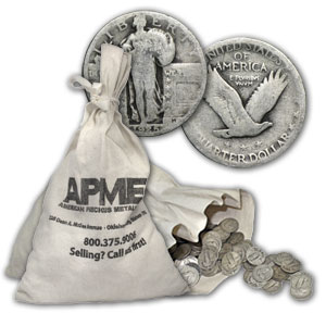 90% Silver Standing Liberty Quarters $500 Face-Value Bag