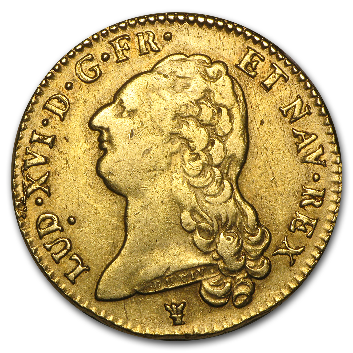 1786-I France Gold 2 Louis D'or XF