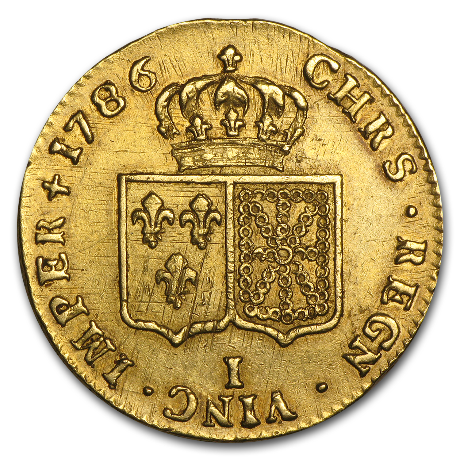 1786-I France Gold 2 Louis D'or AU-55 NGC