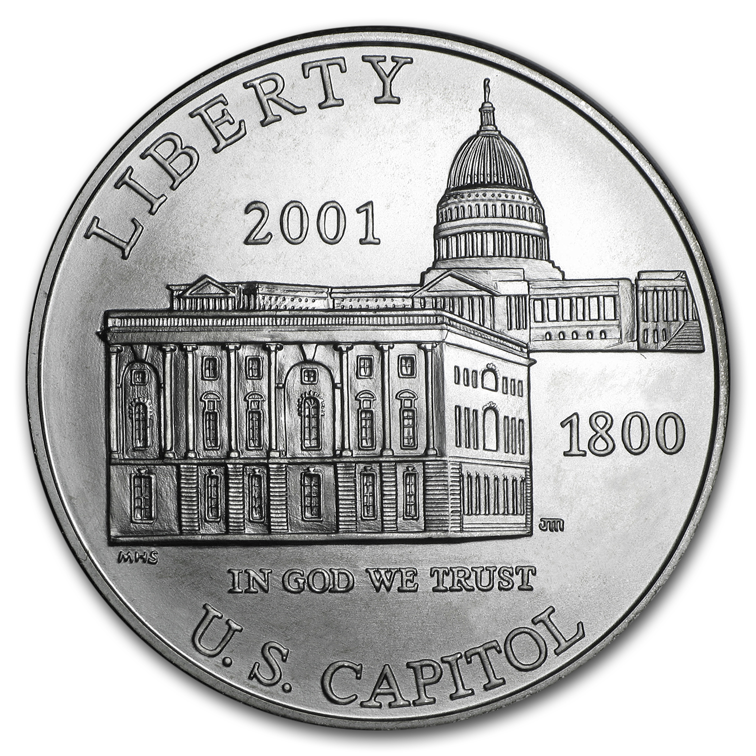 2001-P Capitol Visitor Center $1 Silver Commem BU (w/Box & COA)