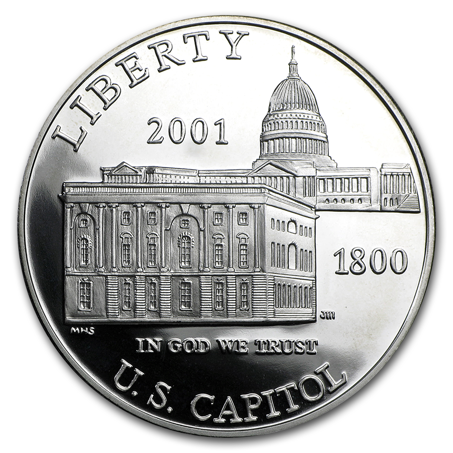 2001-P Capitol Visitor Center $1 Silver Commem Prf (w/Box & COA)