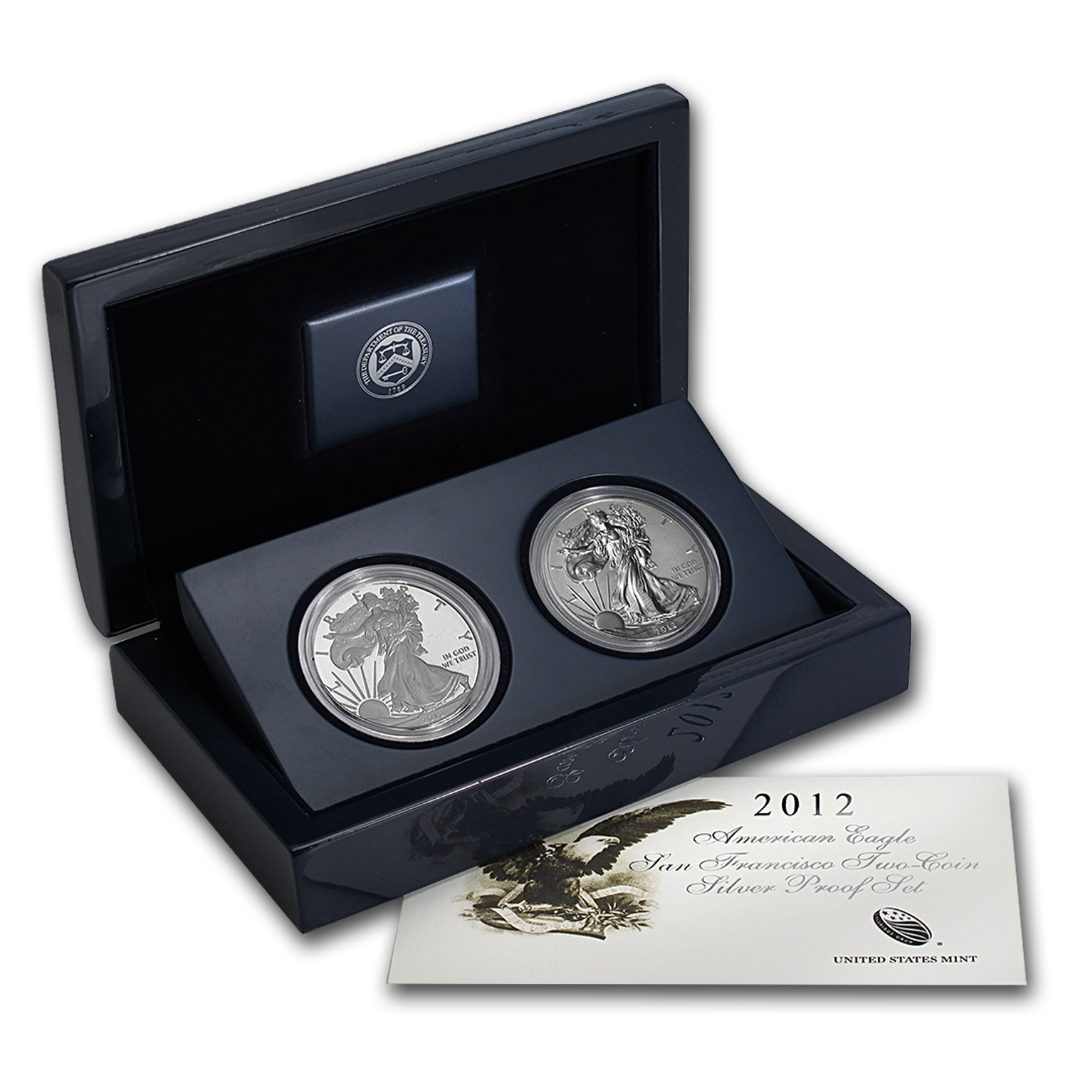 2012-S 2-Coin Silver American Eagle Set (75th Anniv)