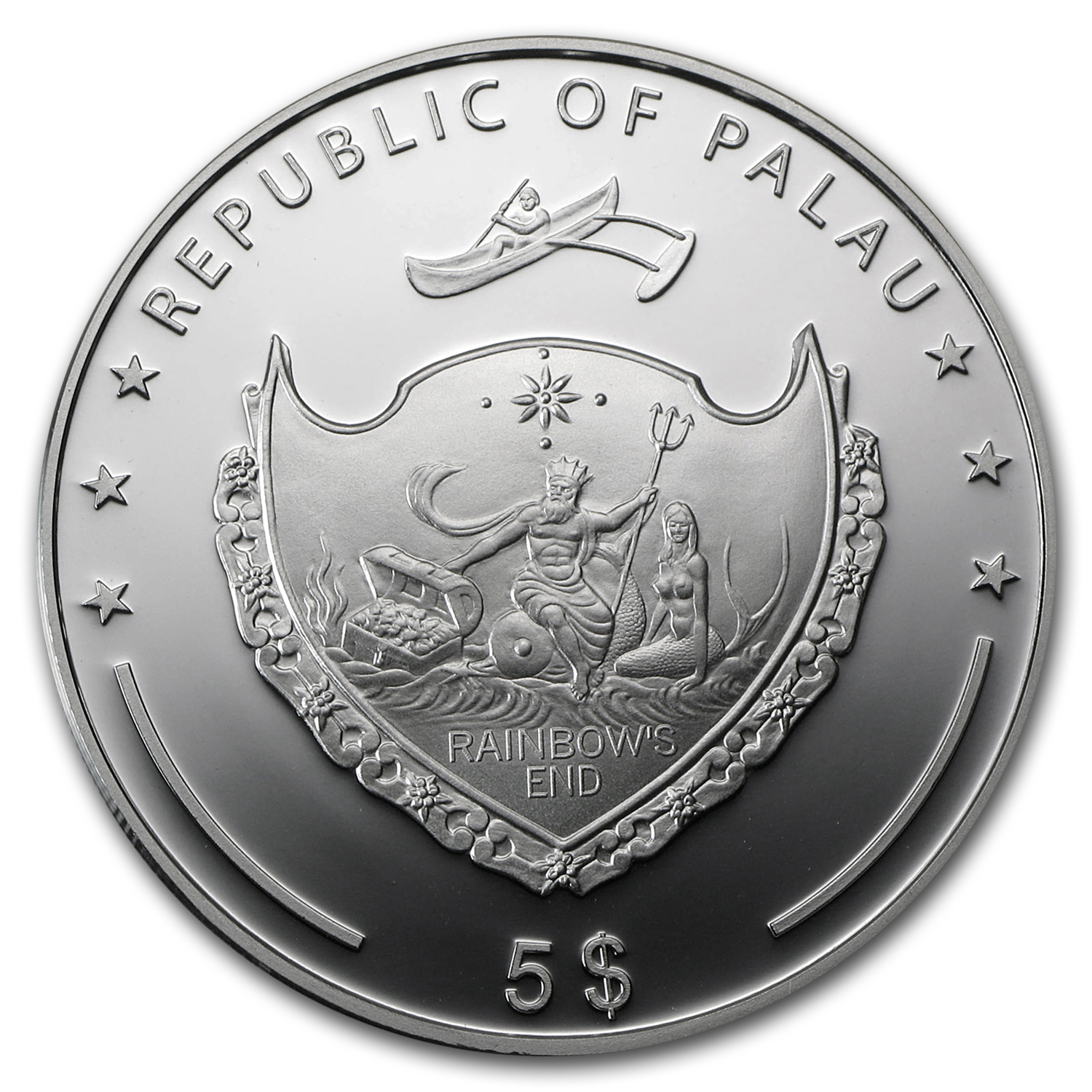2011 Palau Proof Silver $5 World of Wonders Statue of Liberty
