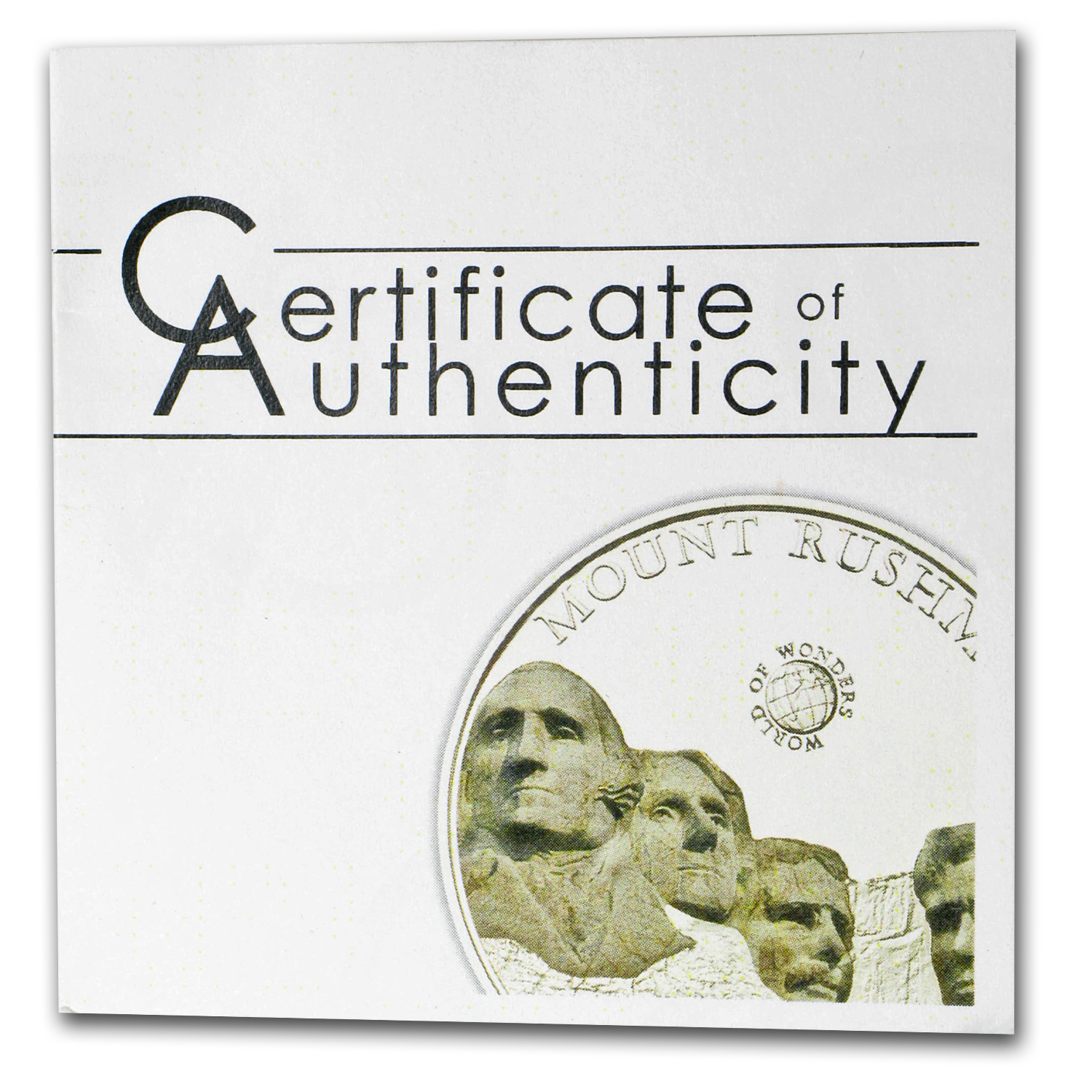 Palau 2011 Silver Proof $5 World of Wonders - Mount Rushmore