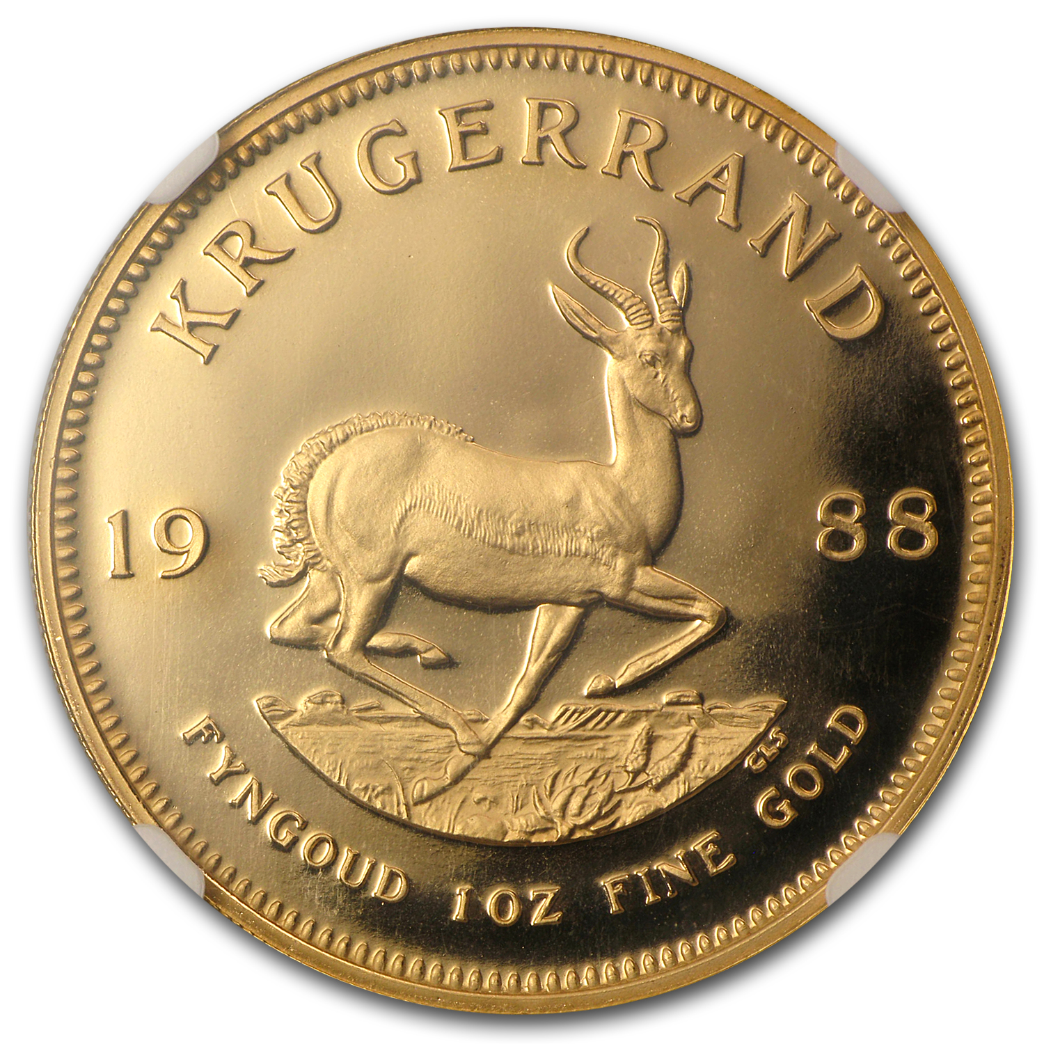 1988 1 oz Gold South African Krugerrand PF-69 NGC