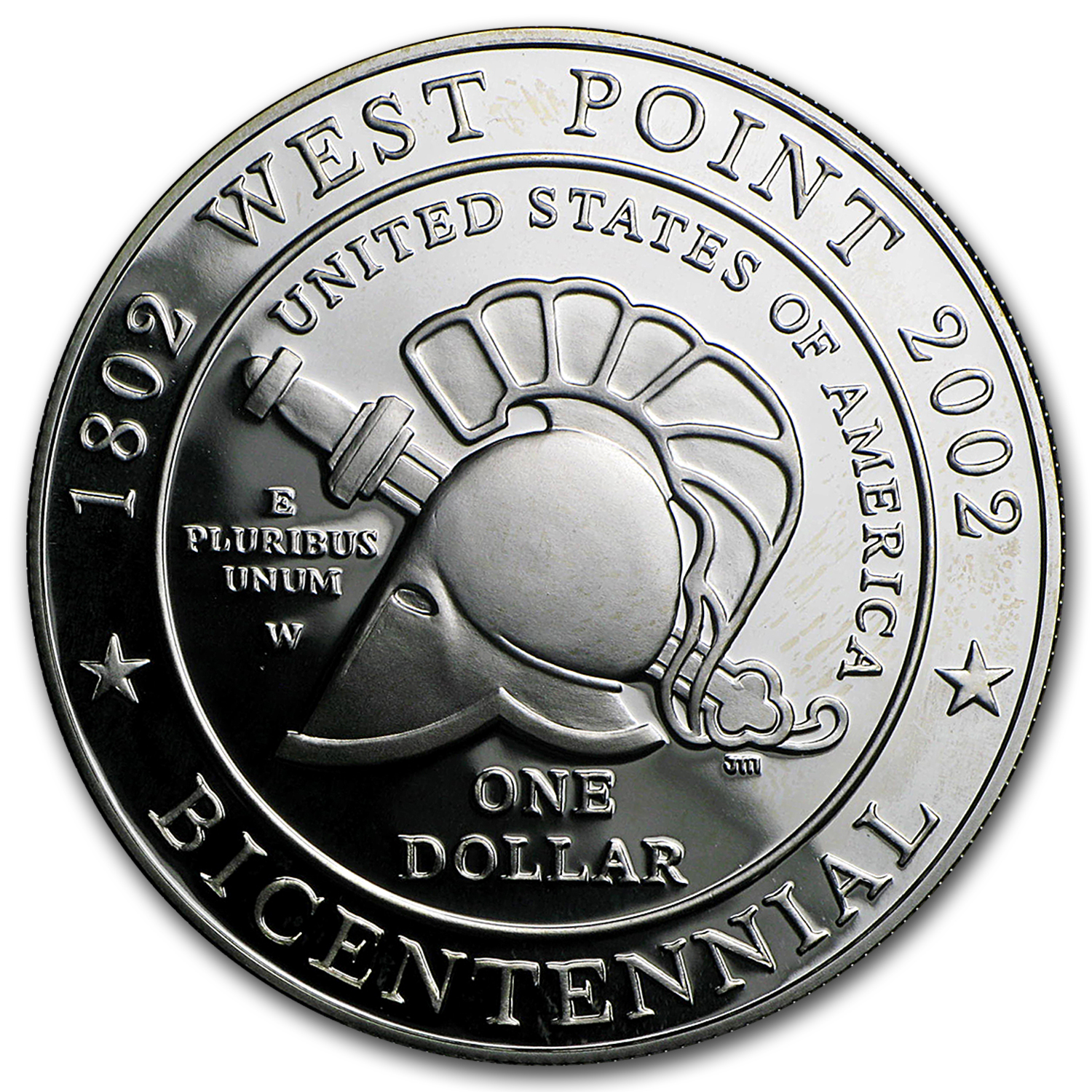 2002-W West Point Bicentennial $1 Silver Commem Prf (w/Box & COA)