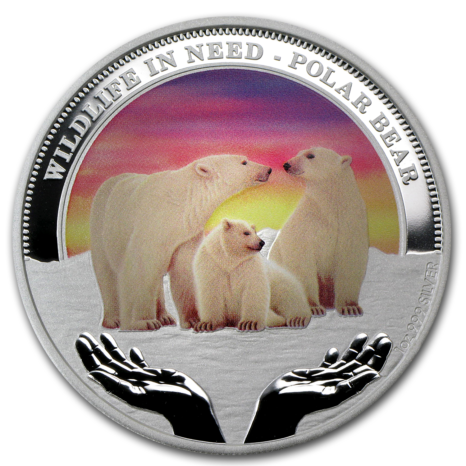 2012 Tuvalu 1 oz Silver Polar Bear Proof