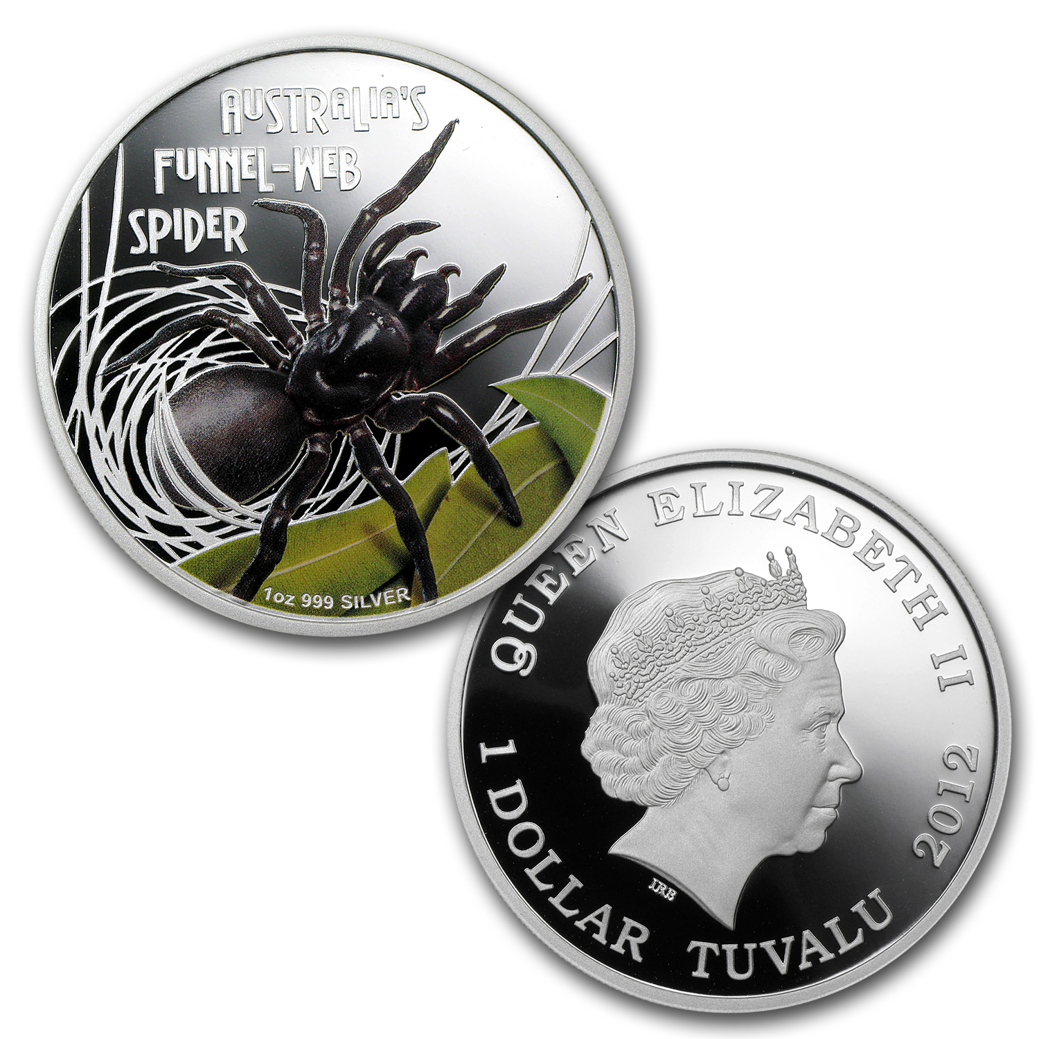 2011-12 2-Coin 1 oz Silver Box Jellyfish/Funnel Web Spider Pf Set