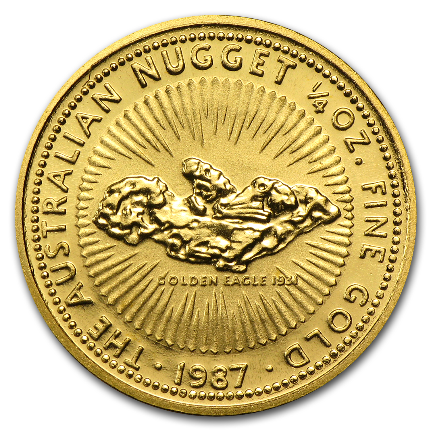 1987 1/4 oz Australian Gold Nugget