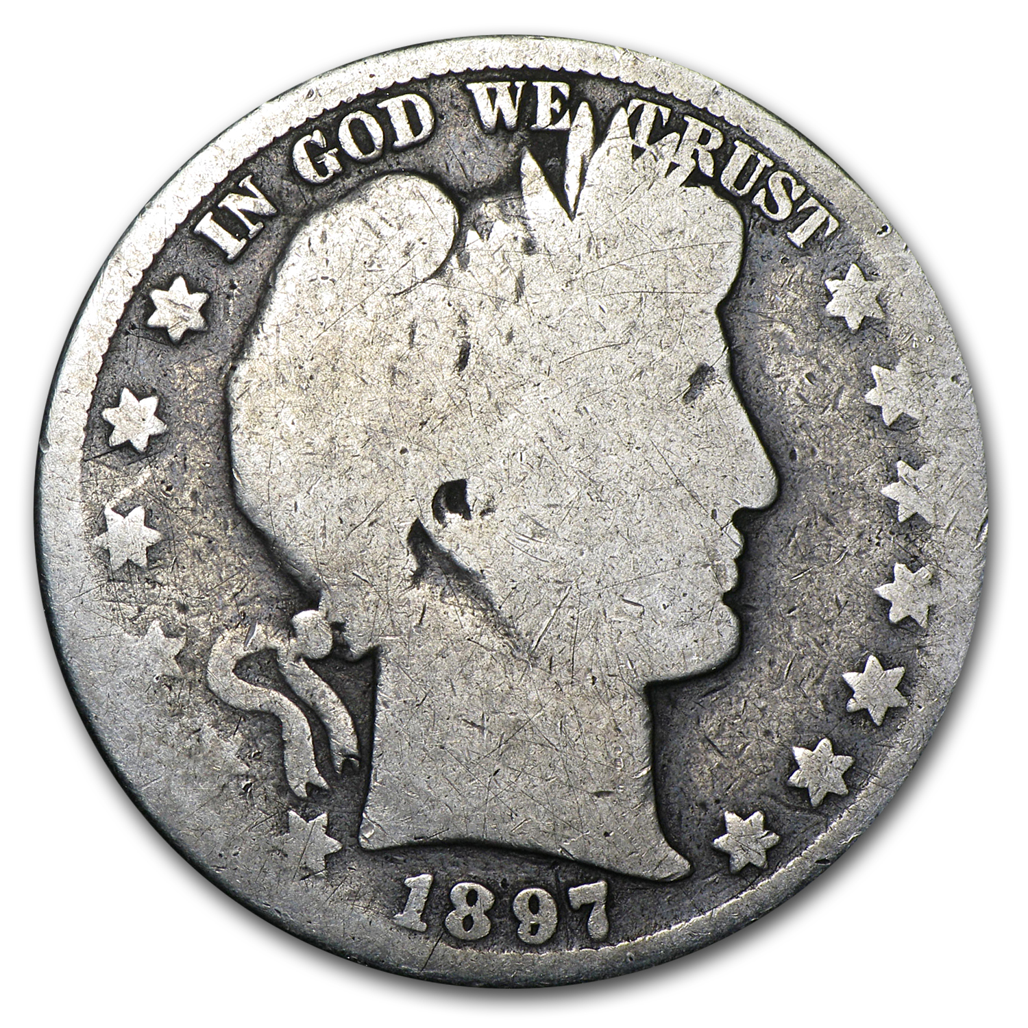 1897-O Barber Half Dollar Good Obv/AG Rev
