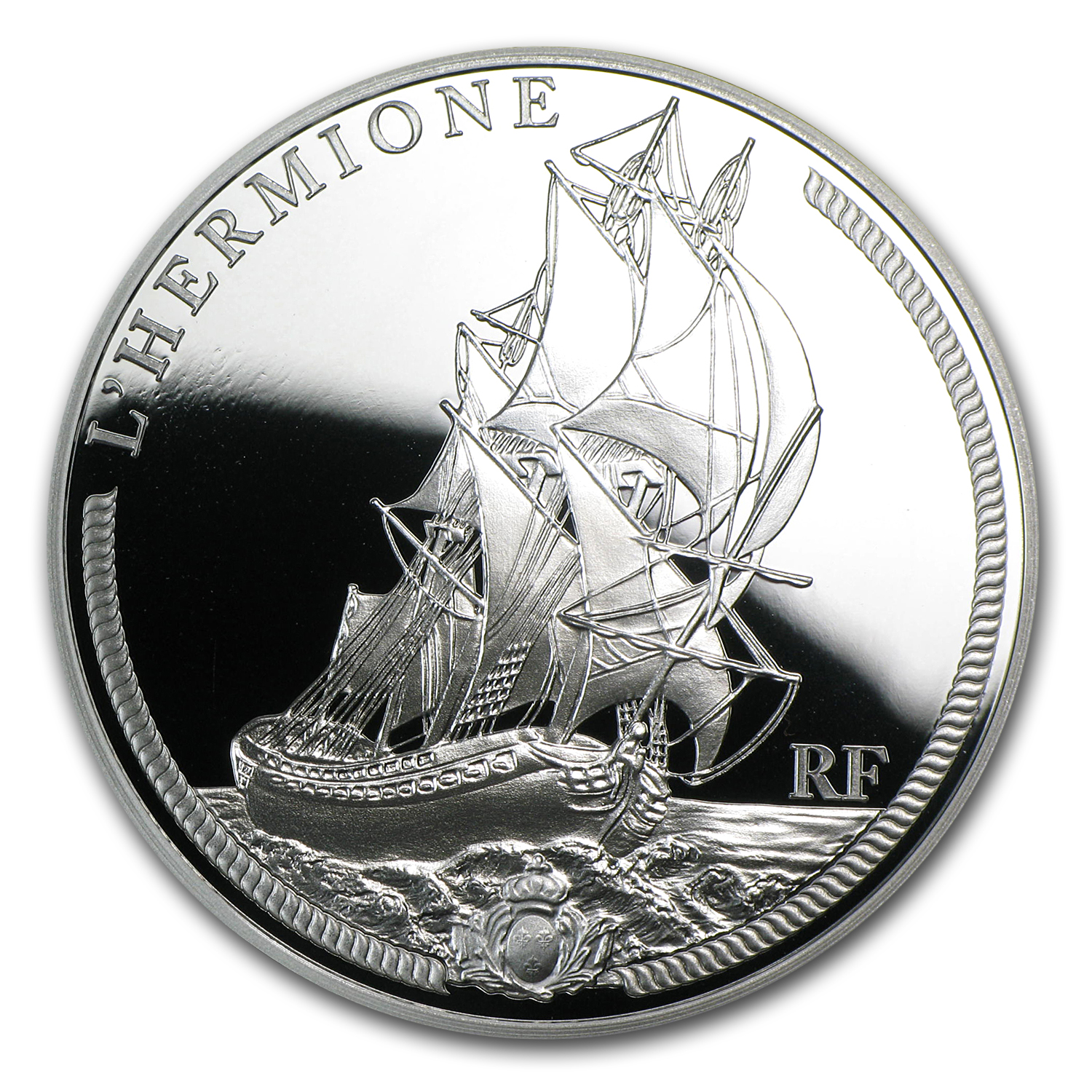 2012 10 Euro Silver Proof Great French Ships - The Hermione