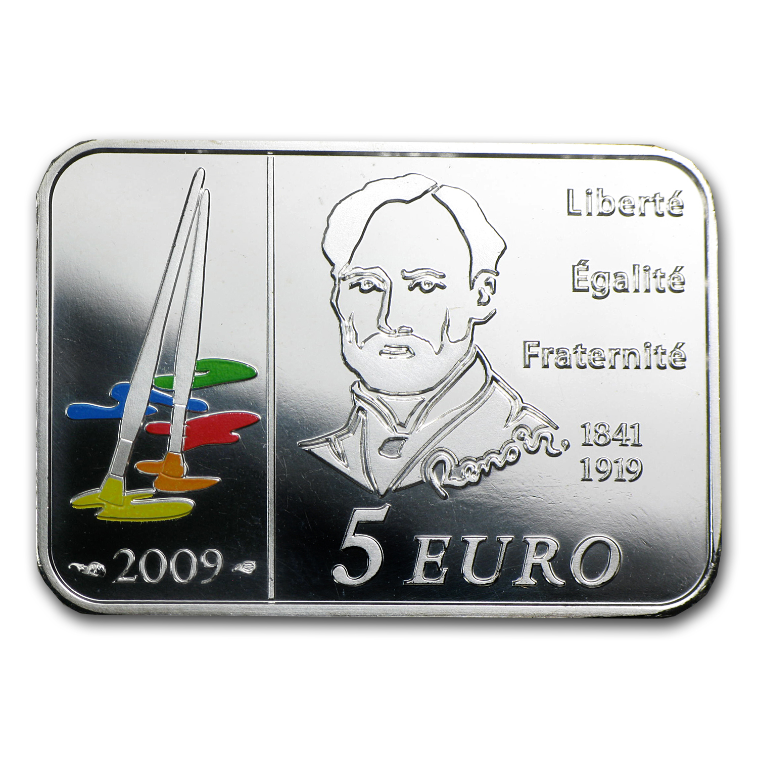 2009 Silver €5 Series of French Painters BU (Auguste Renoir)