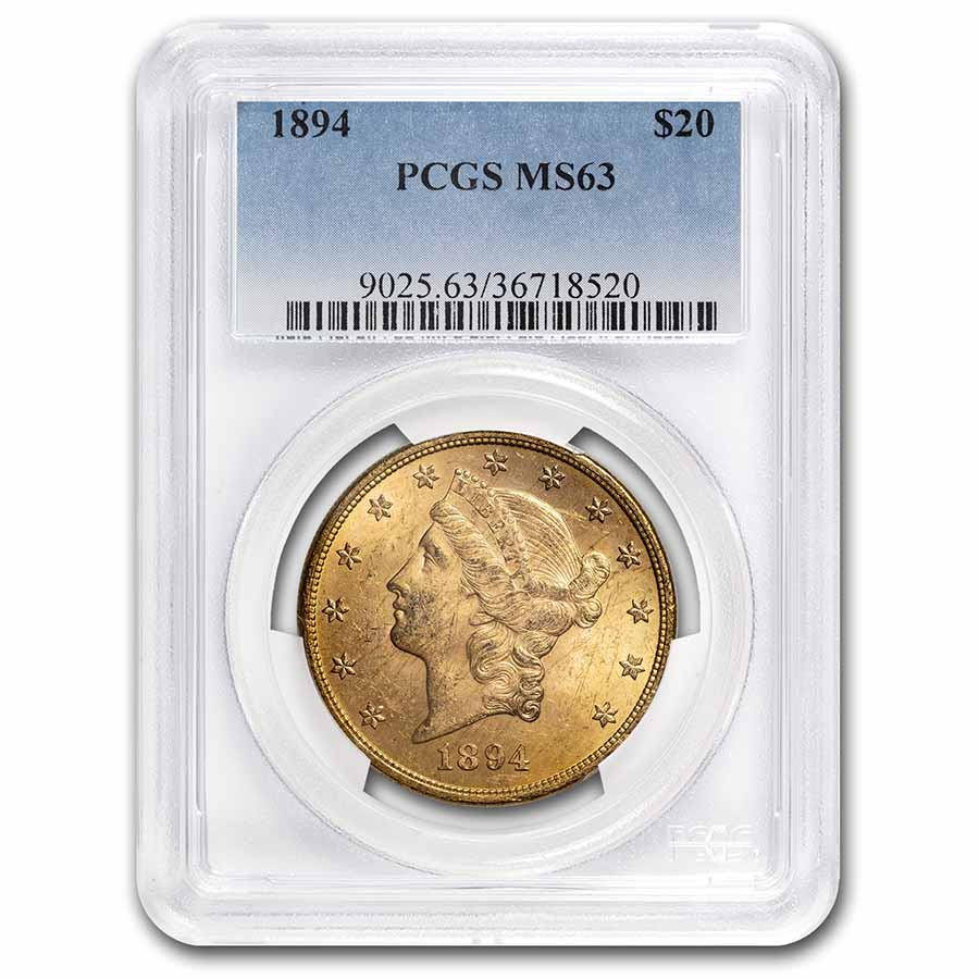 1894 $20 Liberty Gold Double Eagle MS-63 PCGS