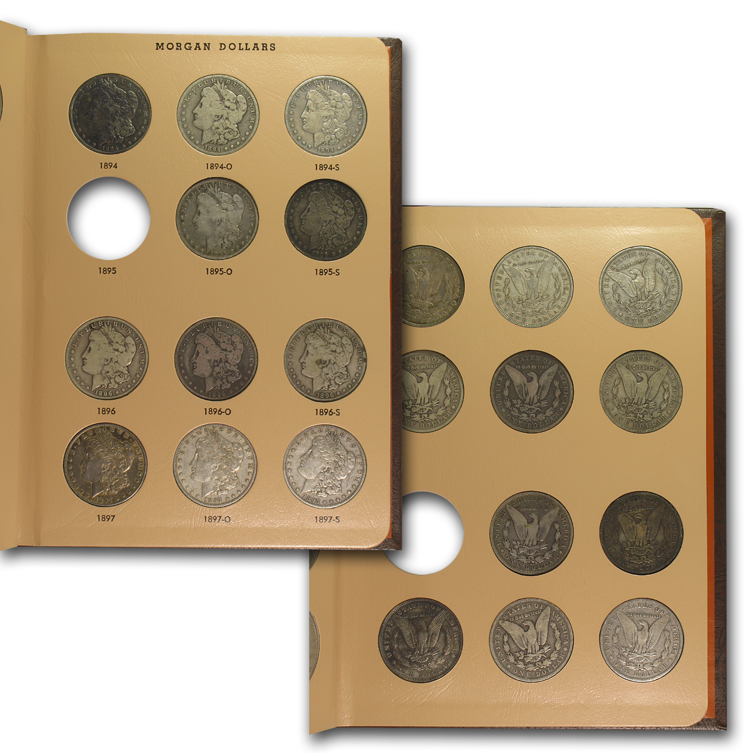 1878-1921 95-Coin Morgan Dollar Set (2 Dansco Albums)