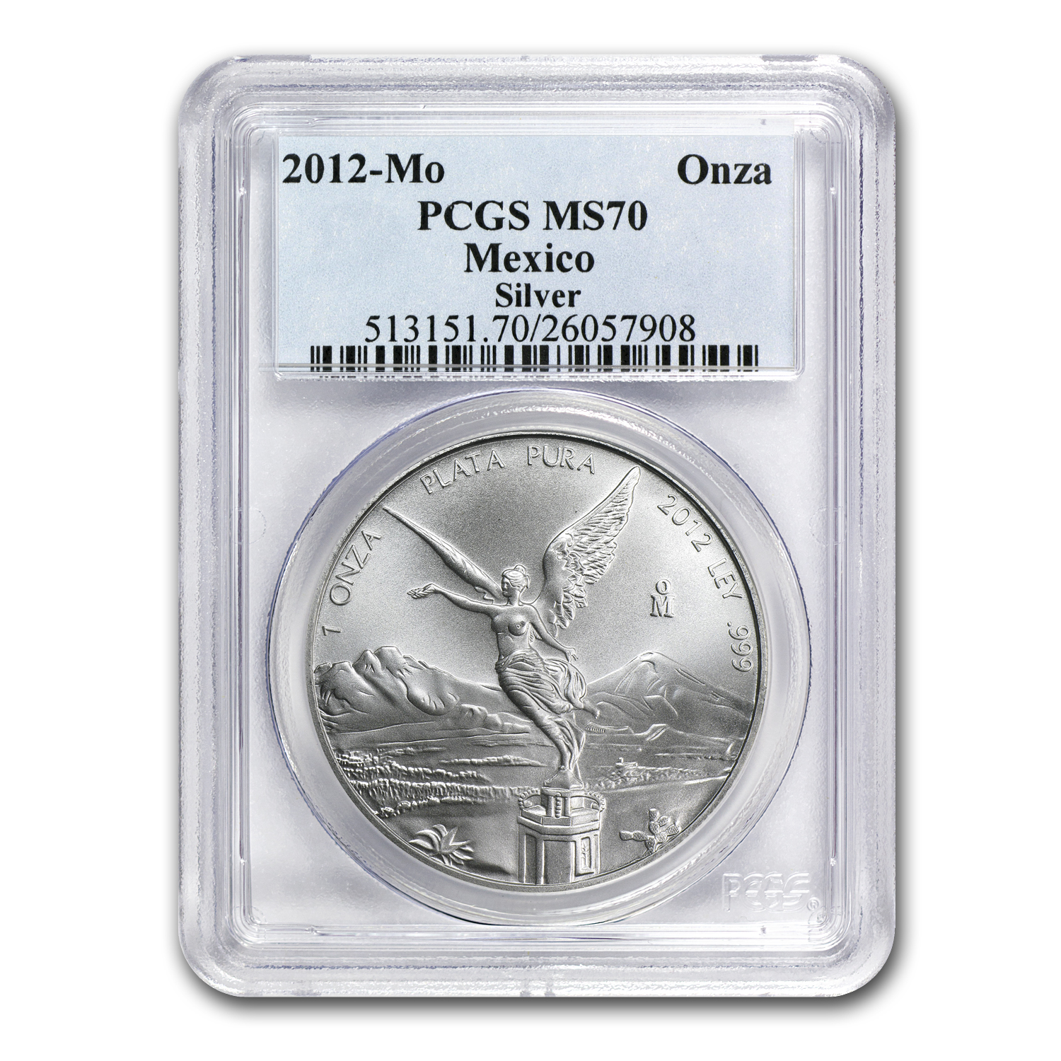 2012 1 oz Silver Mexican Libertad MS-70 PCGS