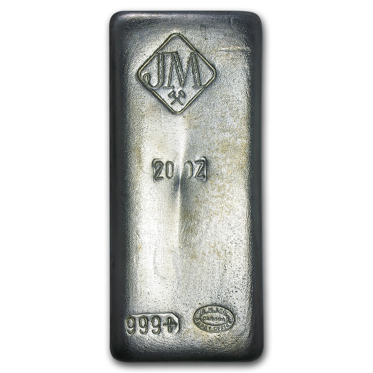 20 oz Silver Bar - Johnson Matthey (Canada, Vintage)