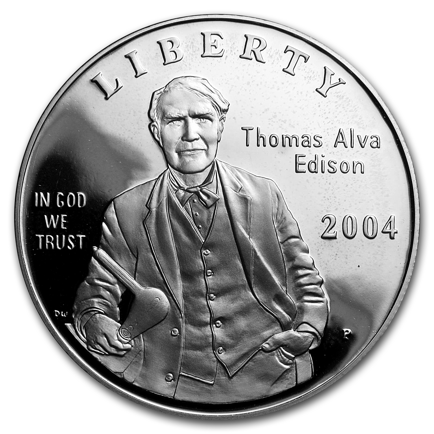 2004-P Thomas Edison $1 Silver Commem Proof (w/Box & COA)