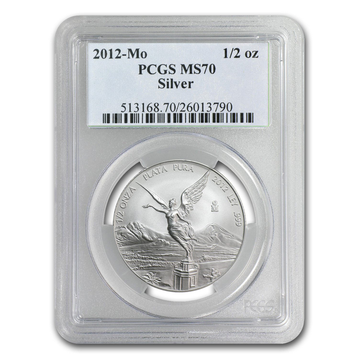 2012 1/2 oz Silver Libertad MS-70 PCGS - Registry Set