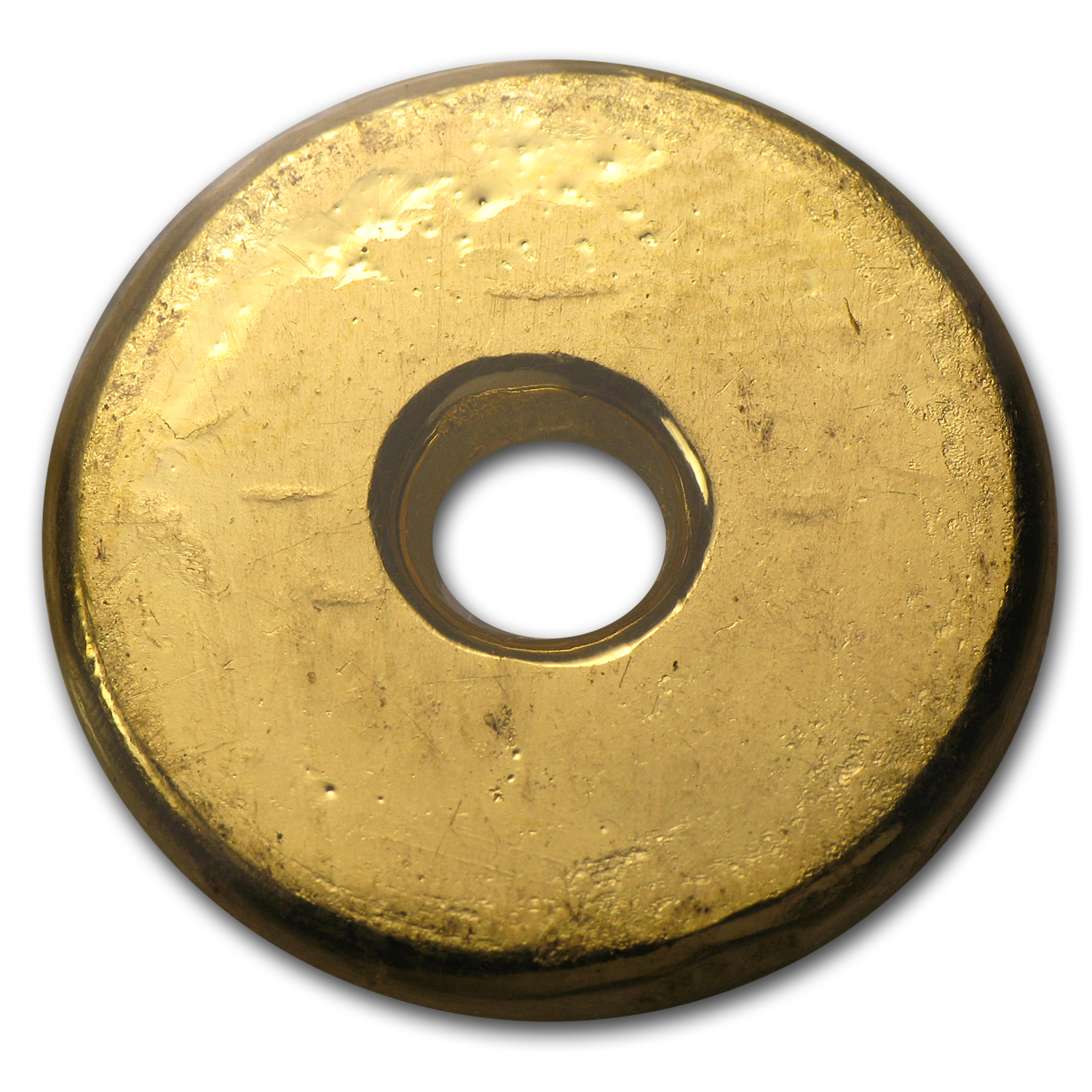 1 Tael Gold Rounds - Chinese Button (Type 2, 1.2057 oz)