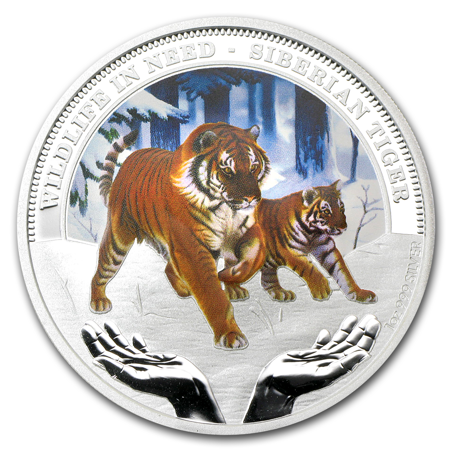 2012 1 oz Proof Silver Siberian Tiger - Wildlife in Need Series