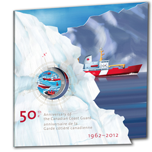 2012 Canada $0.25 50th Anniv Canadian Coast Guard (Coloured)