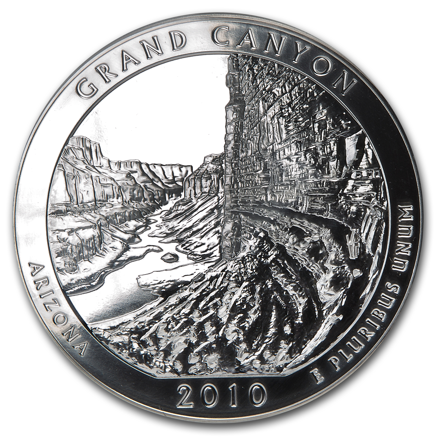 2010 5 oz Silver ATB Grand Canyon MS-69 DMPL FS PCGS Edmund Moy