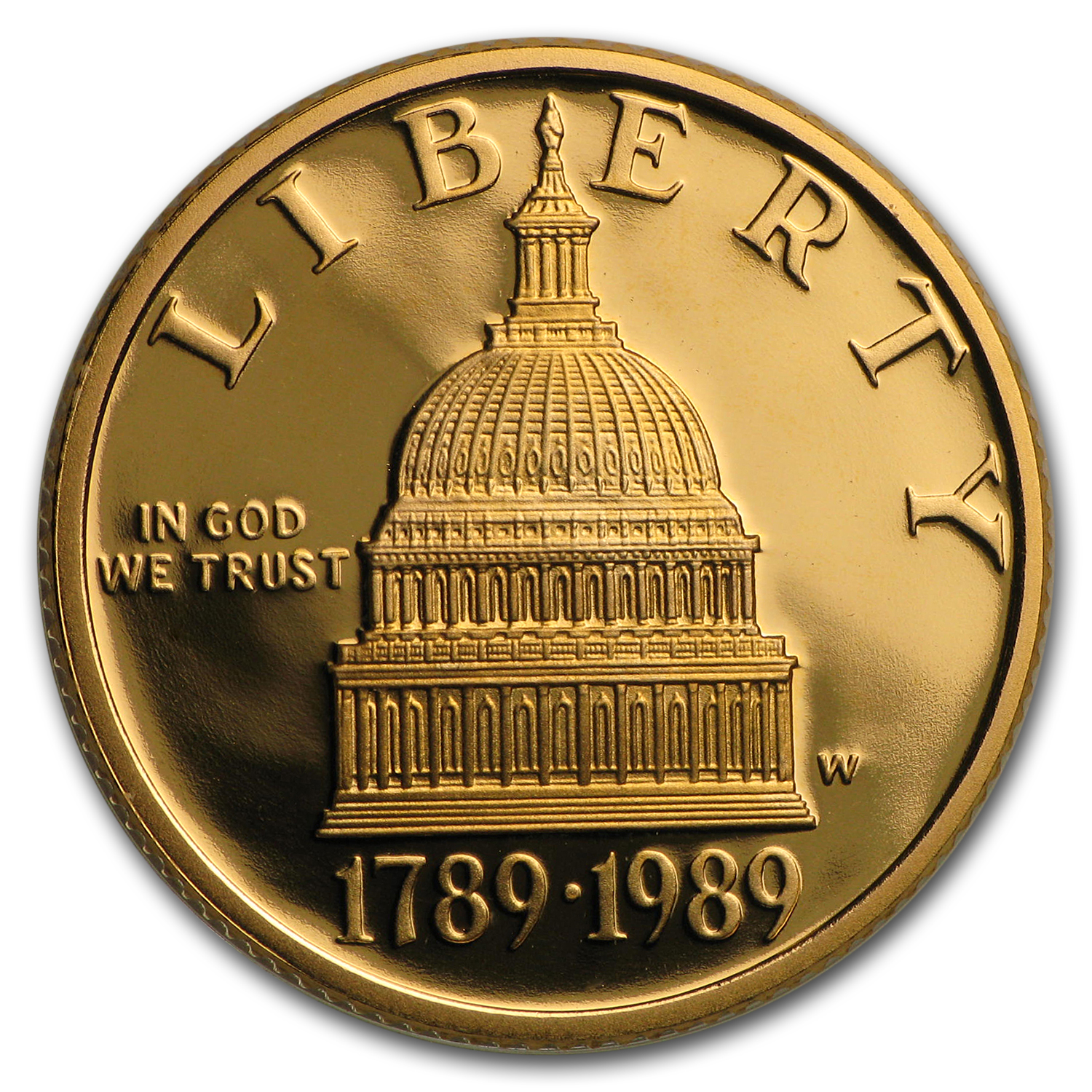 1989-W Gold $5 Commem Congressional Proof (w/Box & COA)