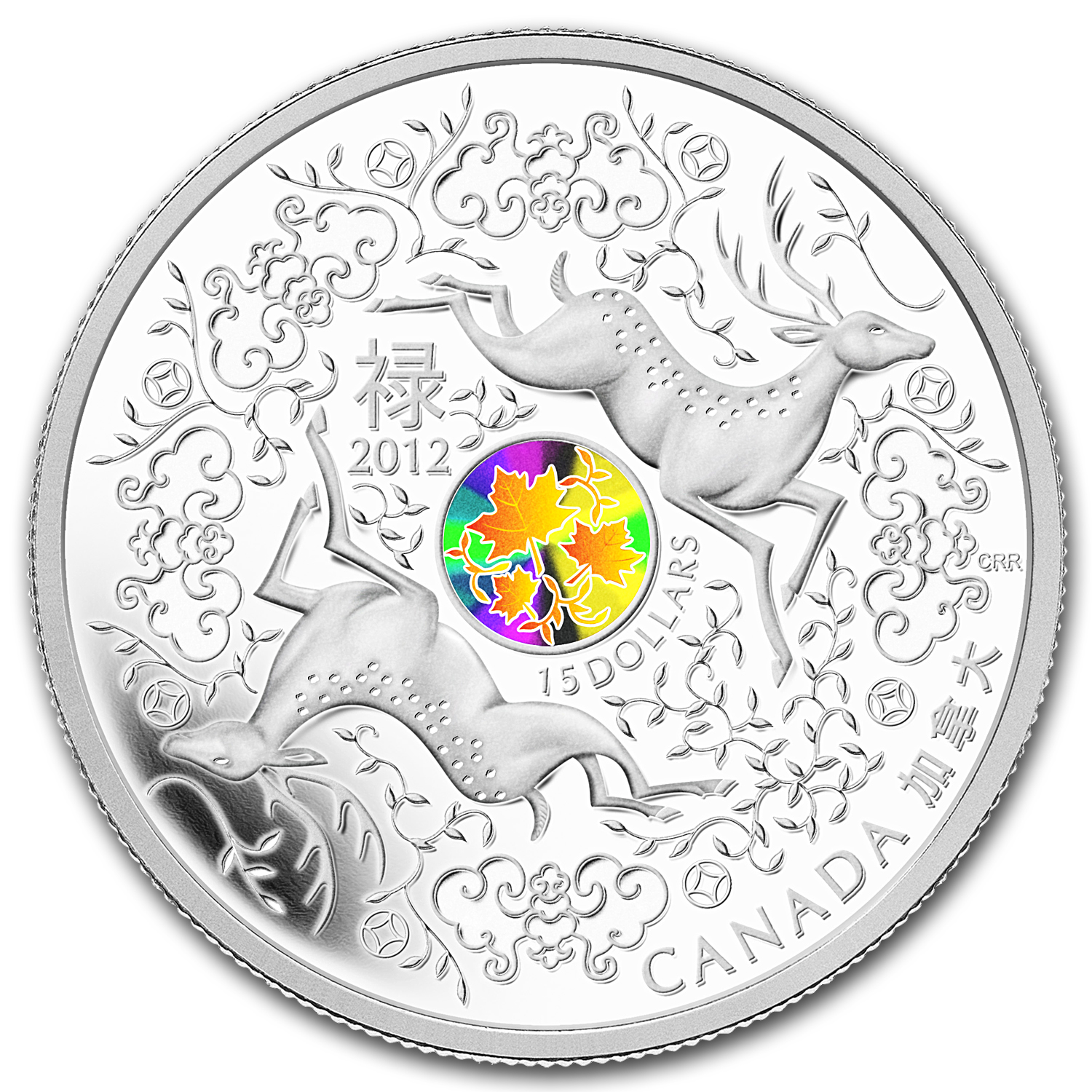 2012 Canada 1 oz Silver $15 Maple of Good Fortune (w/Hologram)