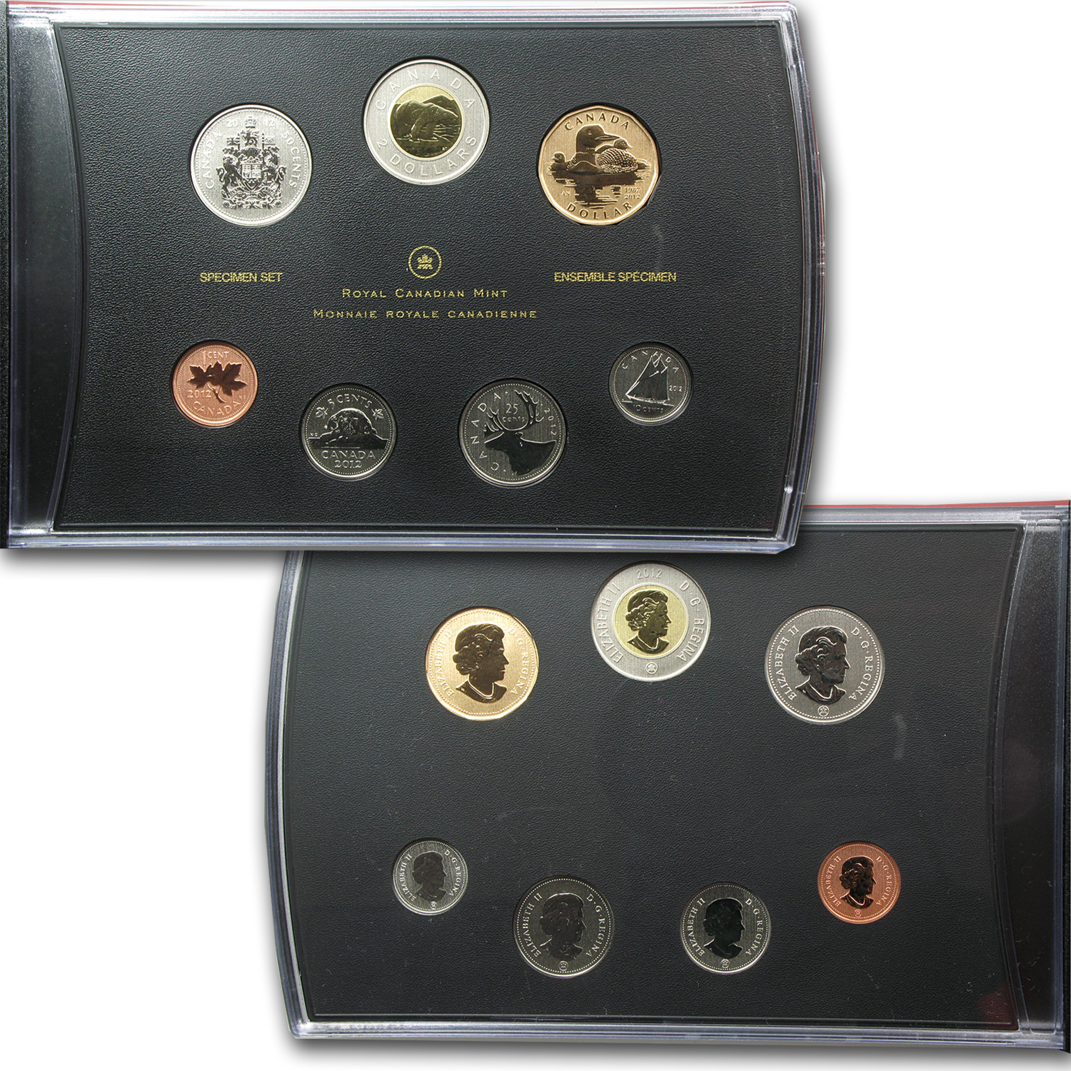2012 7-Coin RCM 25th Anniv Loonie Special Edition Specimen Set